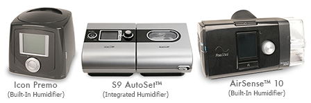 cpap machines with built in cpap humidifiers